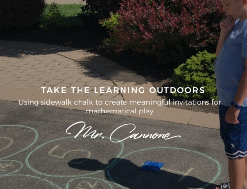 Grab some sidewalk chalk and take the learning outdoors